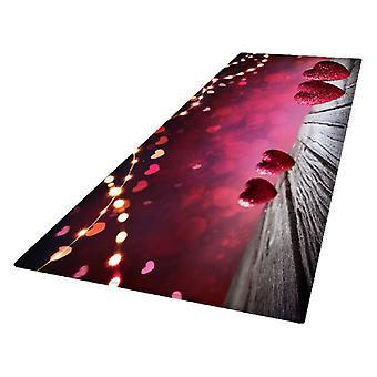 Tapis antidérapant Soft Flannel Matte Red pour l'impression numérique 3D