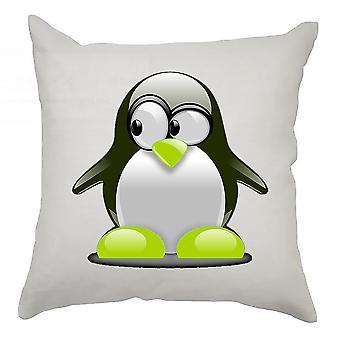 Pingvin putetrekk 40cm x 40cm - Grønn