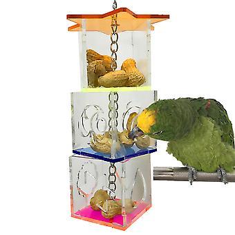 Bird Forage Box Boredom Buster Feeder Box Bird Foraging Toy Box Transparent