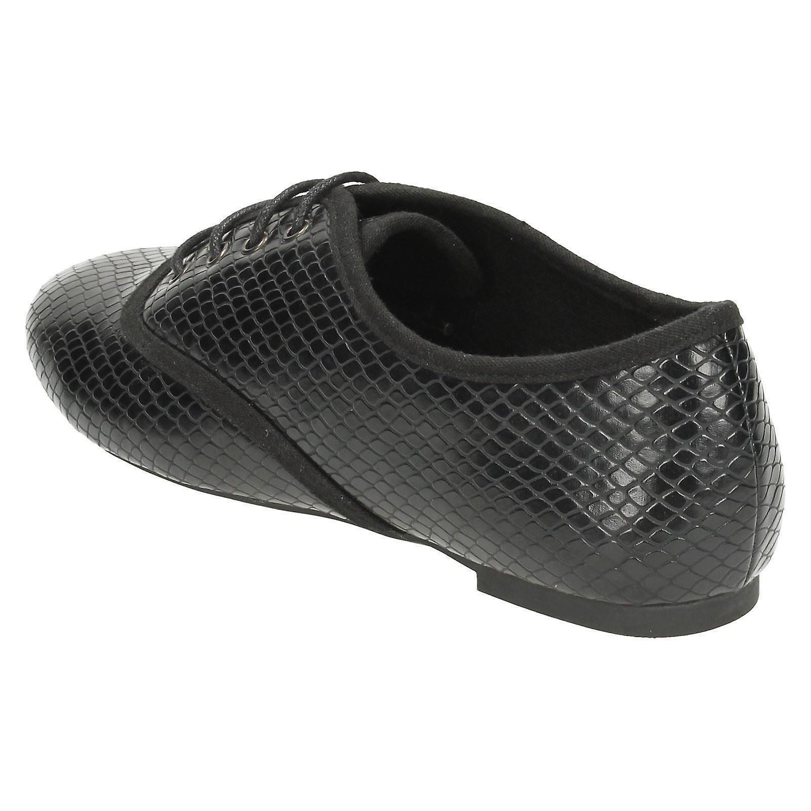 Damer plats på Smart Brogue stil skor F80171 - Gratis frakt