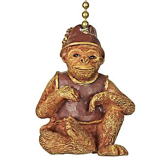 Tiki Tropical Monkey Ceiling Fan or Light Pull Chain