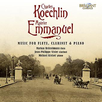 Koechlin/Emmanuel - Charles Koechlin, Maurice Emmanuel: Music for Flute, Clarinet & Piano [CD] USA import