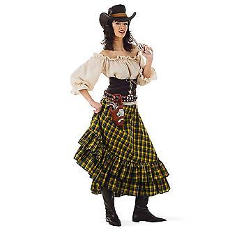 Wilde westen brigand Cowgirl Rebellin dames kostuum