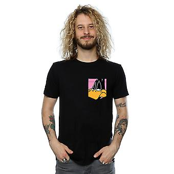 Looney Tunes mannen Daffy Duck Face Faux Pocket T-Shirt