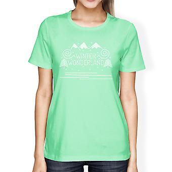 Winter Wonderland damskie Funny T-Shirt graficzne Christmas gift