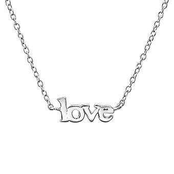 & ونقلت عن الحب & - 925 الاسترليني الفضة عادي القلائد - W35272x