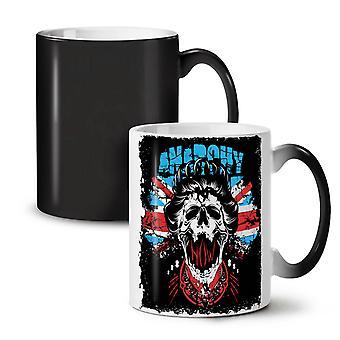 Anarchy Skull Flag UK NEW Black Colour Changing Tea Coffee Ceramic Mug 11 oz | Wellcoda