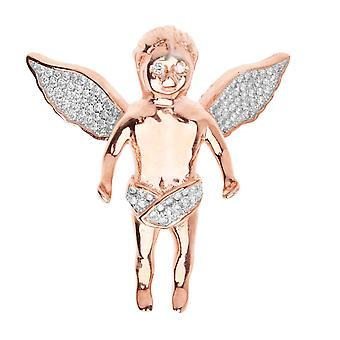 قسط بلينغ-925 الاسترليني الفضة الذهب قلادة ارتفع الملاك
