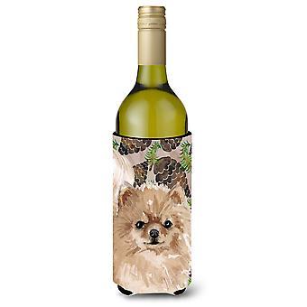 Pomerânia pinho Cones garrafa de vinho Beverge isolador Hugger