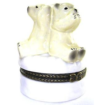 See No Hear Say Evil Polar Bears Trinket Box phb