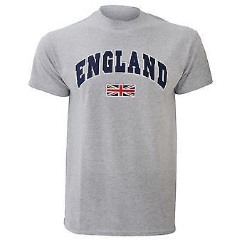 Miesten Englannissa Union Jack tulosta 100 % puuvillaa lyhythihainen rento T-paita/Top