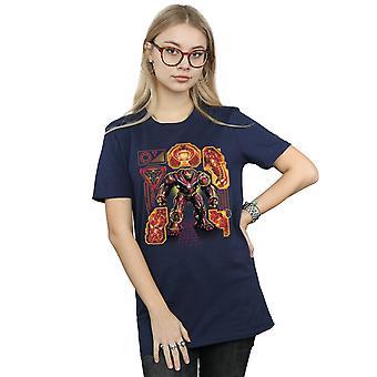 Marvel Women's Avengers Infinity War Hulkbuster Blueprint Boyfriend Fit T-Shirt