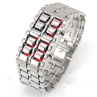 Womens Lava LED Watch Silver Black