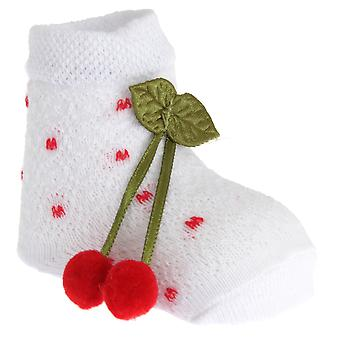 My Little Chick Newborn Baby Socks With 3D Cherry Design