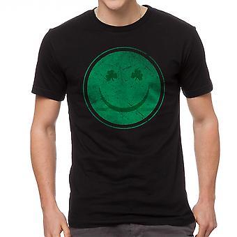 T-shirt drôle noir de heureux hommes irlandais l'humour