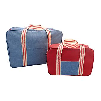 Country Club 2 Pack kylväskor, Denim Stripe