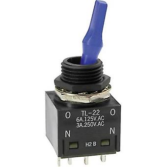 NKK Switches TL22SCAG015C Toggle switch 250 V AC 3 a 2 x aan/op klink 1 PC('s)