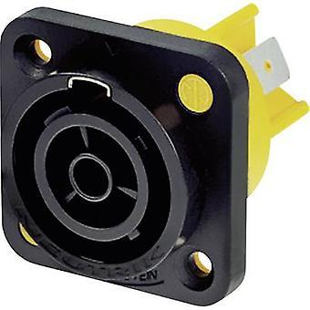 Neutrik NAC3FPX Mains conector powerCON Series (conectores de rede) powerCON Socket, número total vertical de pinos: 2 + PE 16 A Black 1 pc (s)