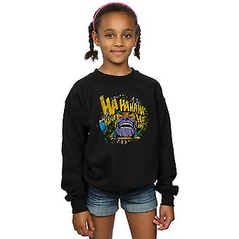 Marvel Girls Thanos Laughs Sweatshirt