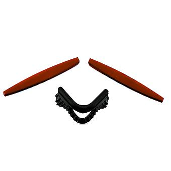 Replacement Rubber Kit for Oakley Vented M Frame Sweep Earsock Nosepad Red Black Insert Accessories by SeekOptics