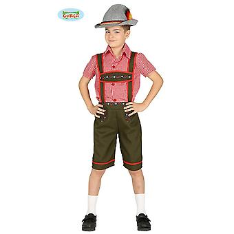 Pantalones de cuero de tirolesa - traje para niños carnaval carnaval Oktoberfest Baviera