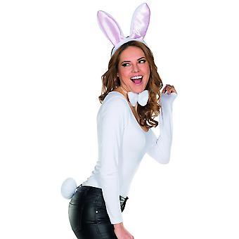 Bunny Set 3pcs. Peluş kulakları papyon stubble kuyrukları aksesuar karnaval bunny tavşan ile Headband