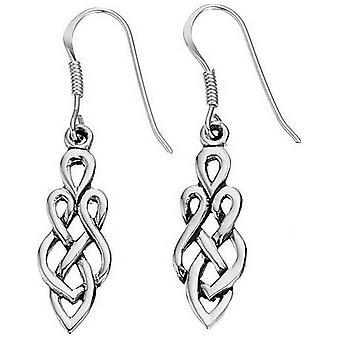 Кельтское начало серьги - серебро