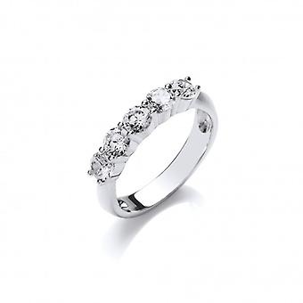Cavendish francia ezüst és cz ' ide Eternity ' Ring