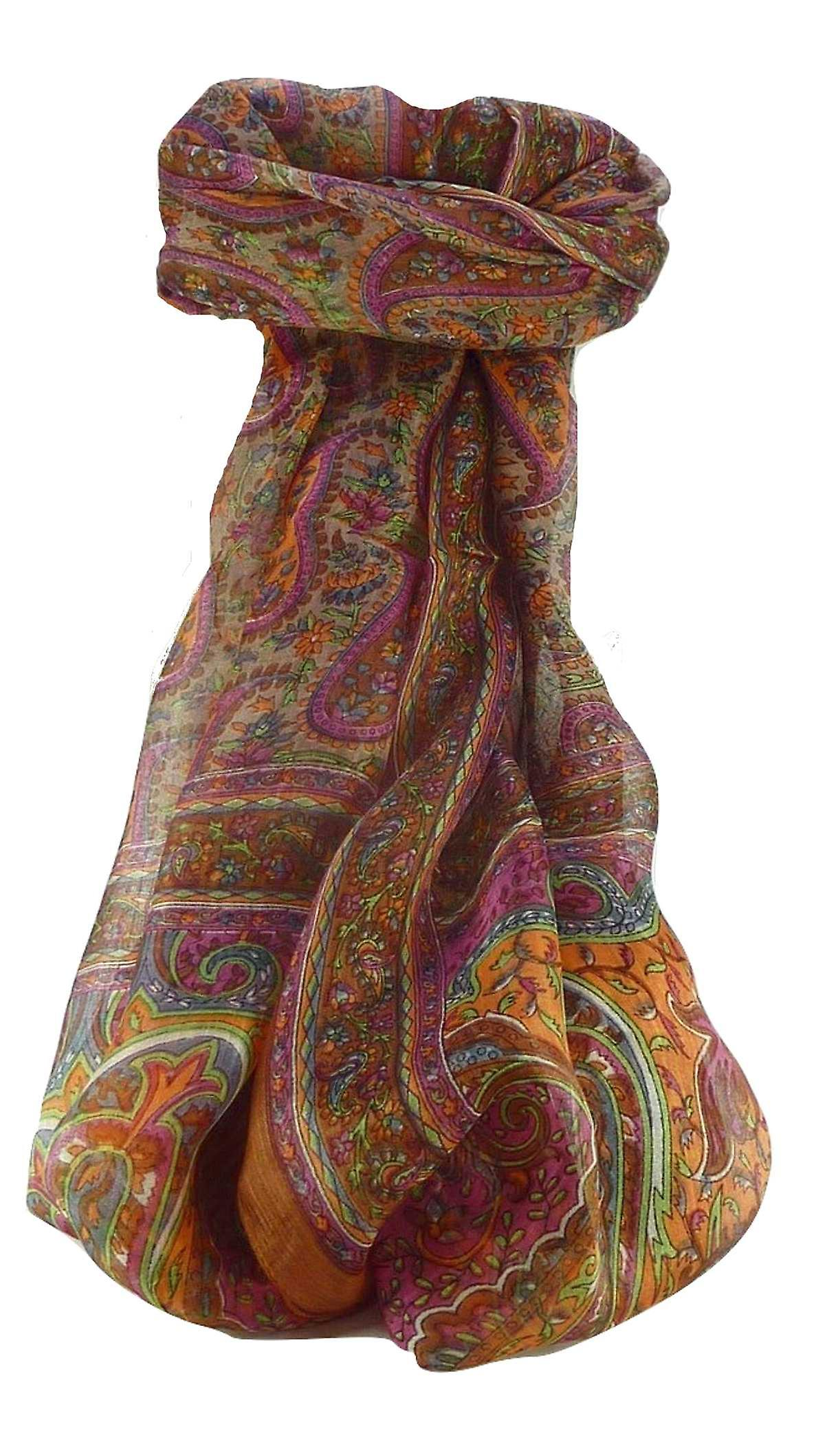Mulberry Silk Traditional Long Scarf Couum Chestnut by Pashmina & Silk
