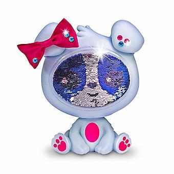 La poupée Zequins Krystal Grey Dog Figure avec paillettes