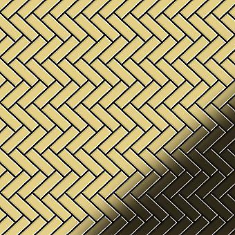 Metal mozaic alama aliaj herringbone-BM