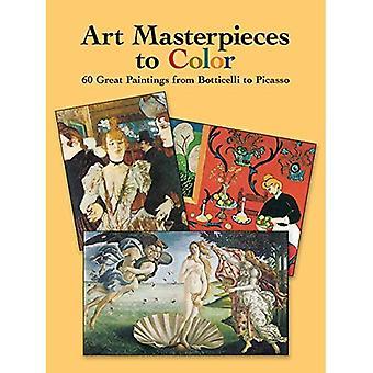 Meisterwerke der Kunst, Farbe: 60 große Gemälde von Botticelli, kamen (Dover Kunst Malbuch)