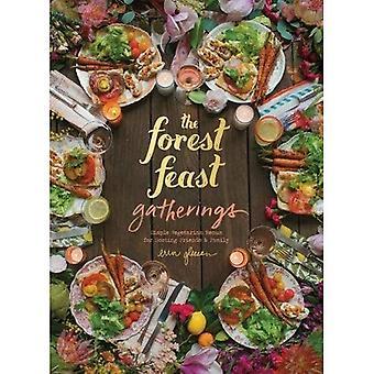 Wald fest Versammlungen: Einfache vegetarische Menüs zum Hosten von Freunden & Familie: einfache vegetarische Menüs aus meiner Hütte im Wald