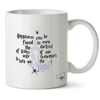 Hippowarehouse felicità possono essere trovati In anche i momenti più bui, se si ricorda solo di accendere la luce stampato tazza tazza ceramica 10oz