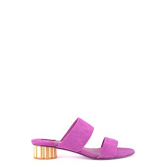 Salvatore Ferragamo 0671035 Women's Fuchsia Suede Sandals