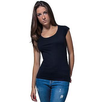 Cotton Addict Womens Back Cut Out Lightweight T Shirt