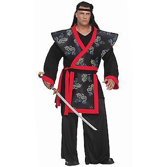 سوبر الساموراي الآسيوية اليابانية المحارب الدفاع عن النفس فنون النينجا زي الرجال زائد