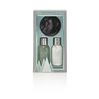 Style & Grace Skin Expert Mini Shower Kit - 100ml Body Lotion, 100ml Hair & Body Wash and Shower Flower
