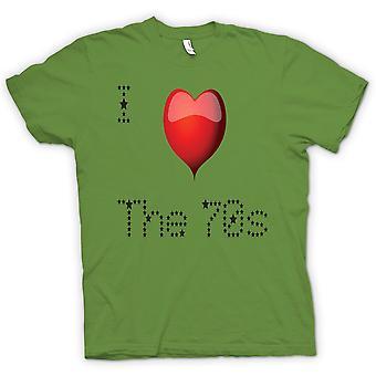 Mens-T-shirt - I Love The 70 s - Cool retro