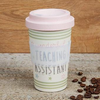 Teachers Assistant Bamboo Travel Mug   Gifts From Handpicked