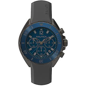 Nautica nwp Japanese Quartz Analog Man Watch with NAPNWP003 Silicone Bracelet