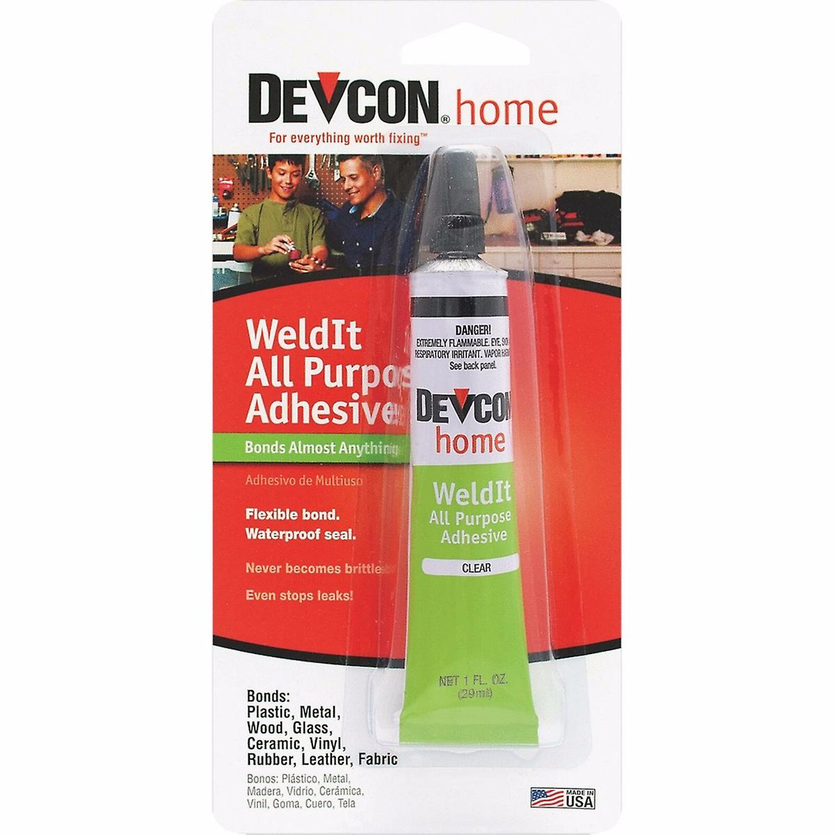 Devcon Weld-It All Purpose Waterproof Adhesive 1 OZ 18245
