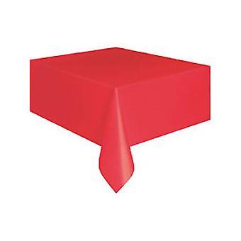 Яркий красный пластиковый скатерть