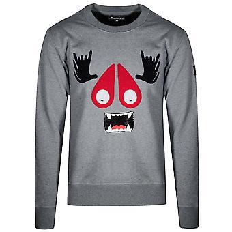Moose Knuckles Grey Melange Moose Munster Crew Sweatshirt