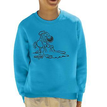 Grimmy Holding Sweater Kid's Sweatshirt