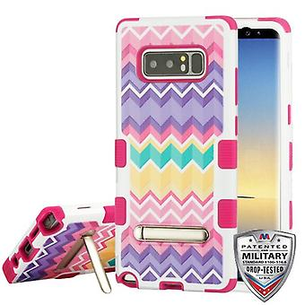 MYBAT Camo Wave/Hot Pink TUFF Cover Hybrid Protector (w/ Stand) per Galaxy Note 8