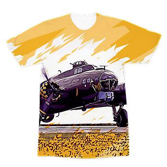 B-17 flying fortress premium sublimation adult t-shirt