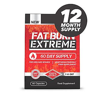 Fat Burn Extreme High Strength Weight Loss Supplement - 12 Month Supply - Fat Burner - Evolution Slimming