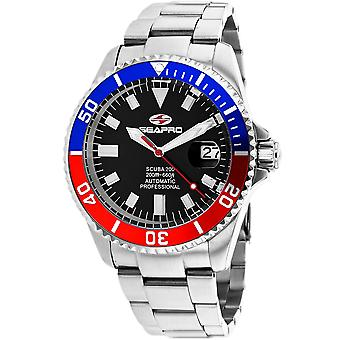 Seapro Men-apos;s Scuba 200 Black Dial Watch - SP4319