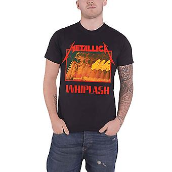 Logo du groupe Metallica T Shirt Whiplash nouveau officiel Mens Black